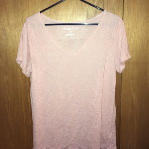 Pink knitted t shirt